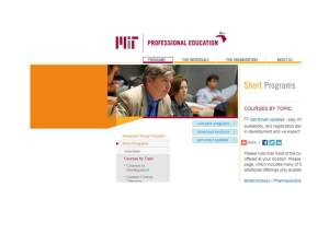 MIT Summer course